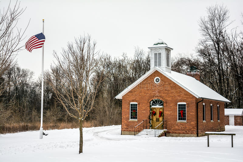 One Room School House stock image