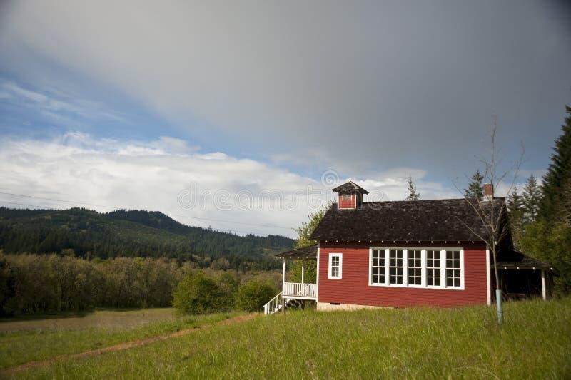 One-room schoolhouse stock photography