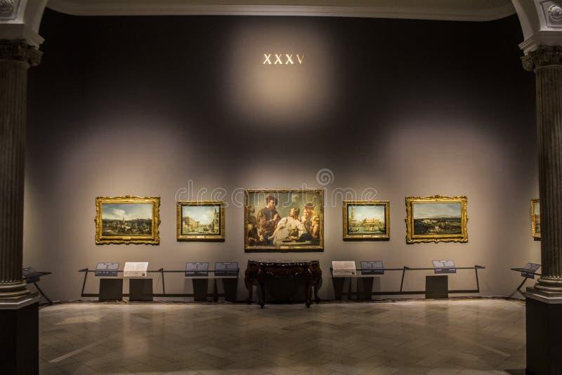 Pinacoteca di Brera, Milan, Italy. One of rooms of Pinacoteca di Brera stock image