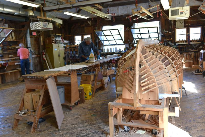 Crafting boat maine state usa maritime museum royalty free stock photo