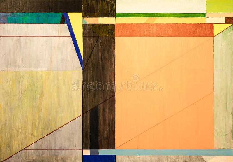One of a series of geometric abstract paintings; each evolving from the previous painting.  This is number 7 in the series. This image is one of a series of vector illustration
