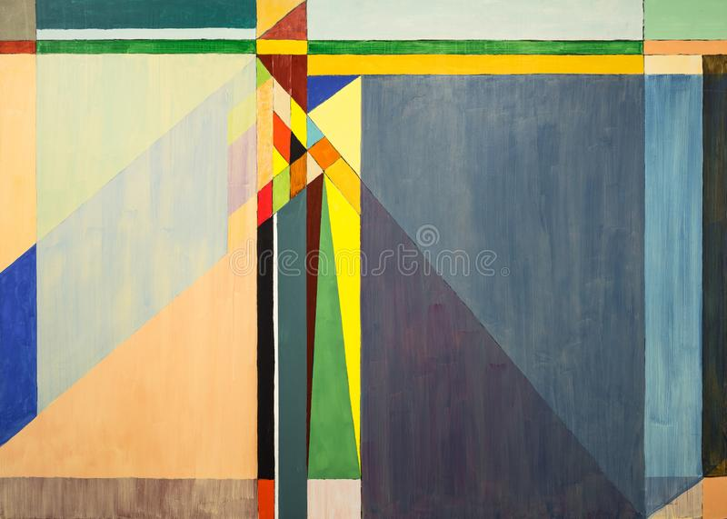 One of a series of geometric abstract paintings; each evolving from the previous painting.  This is number 2 in the series. This image is one of a series of vector illustration