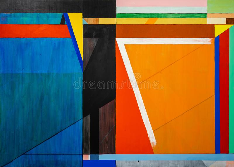 One of a series of geometric abstract paintings; each evolving from the previous painting.  This is number 7 in the series vector illustration