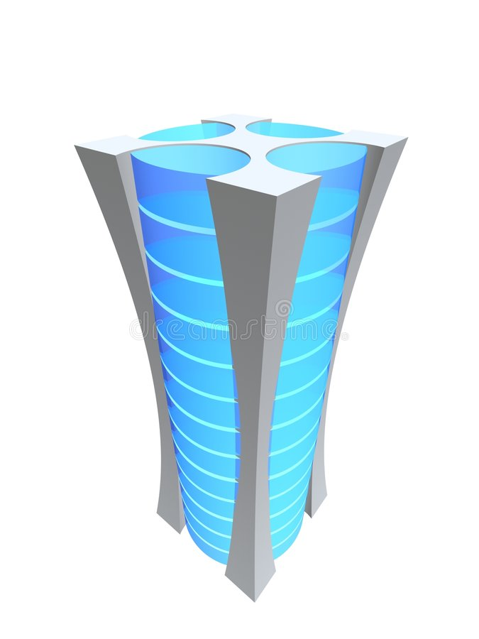 One server tower stock illustration