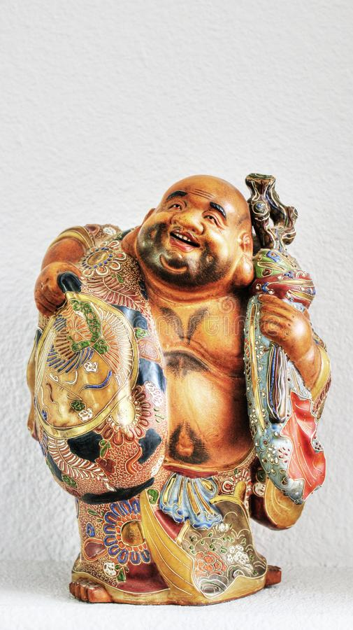 One of the seven lucky gods in Japanese mythology stock images