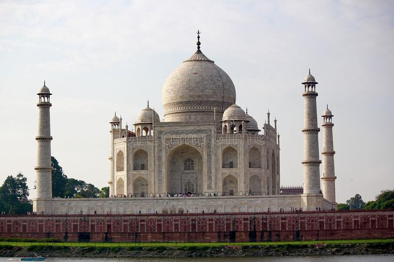 One of the Seven wonders of the world - The Taj Mahal royalty free stock photography