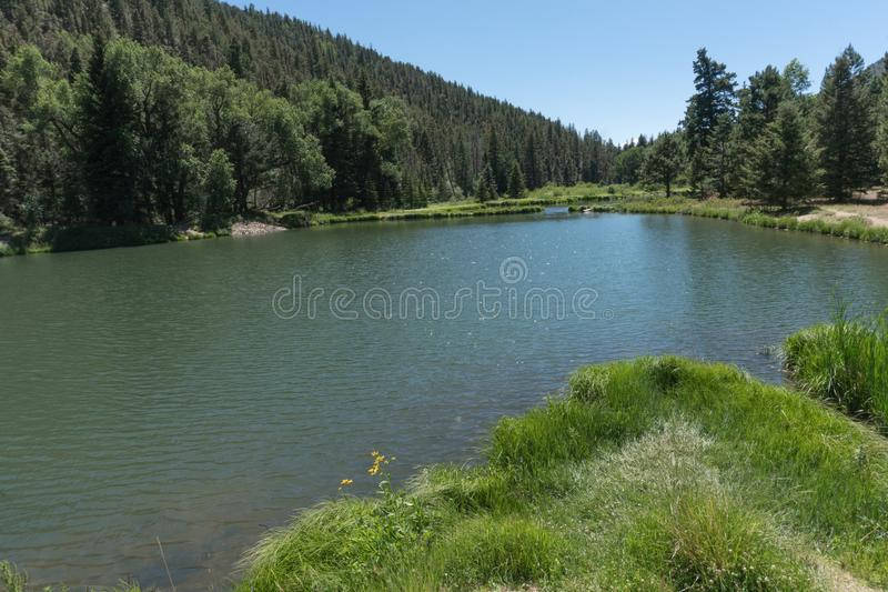 One of several ponds at Fawn Lakes. stock images