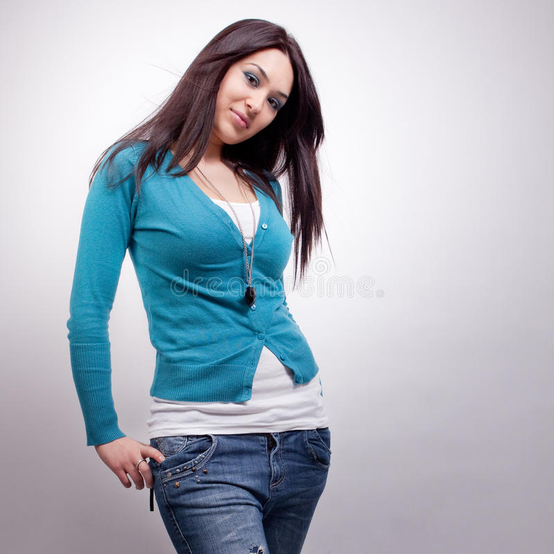 Download One Fashionable Young Woman Stock Photo - Image: 20243676