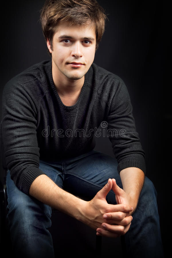 One Handsome Young Masculine Man Royalty Free Stock Photo
