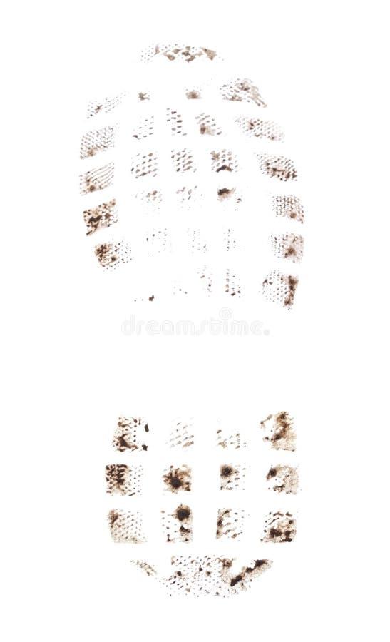 One shoe imprint stock image