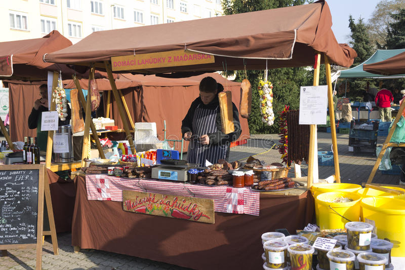 Download One Of The Shops At Prague Autumn Farmers Markets Editorial Photo - Image: 27013426