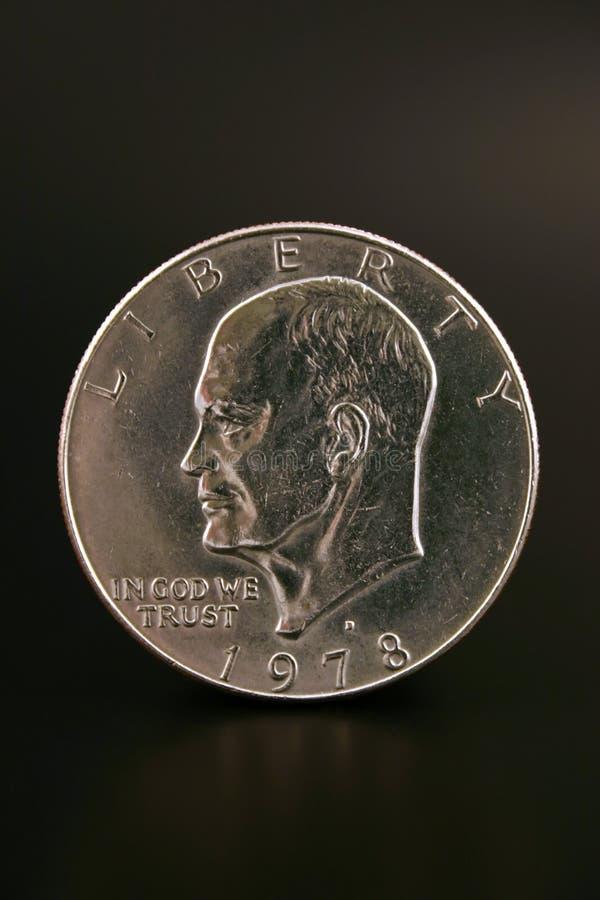One Silve Dollar stock photo