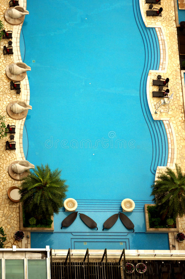 One Silversea swimming pool stock photos