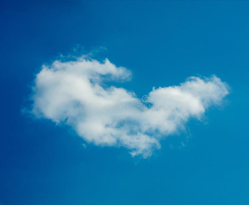 One simple cloud. On sky in summer sunny day clean concept stock photography