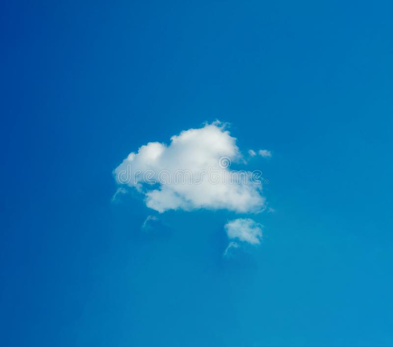 One simple cloud. On sky in summer sunny day clean concept royalty free stock images