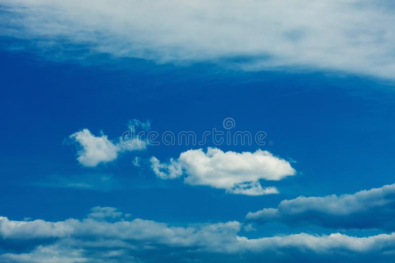 One simple cloud. On sky in summer sunny day clean concept royalty free stock photo