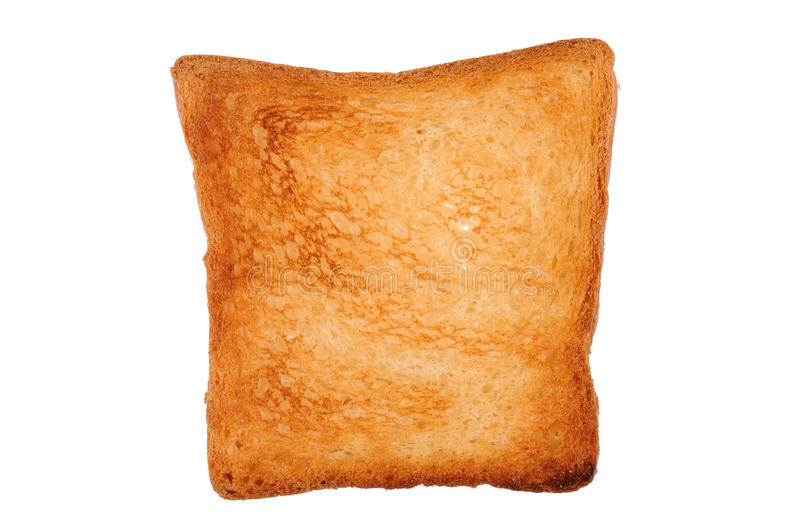 One slice of toast bread royalty free stock photos