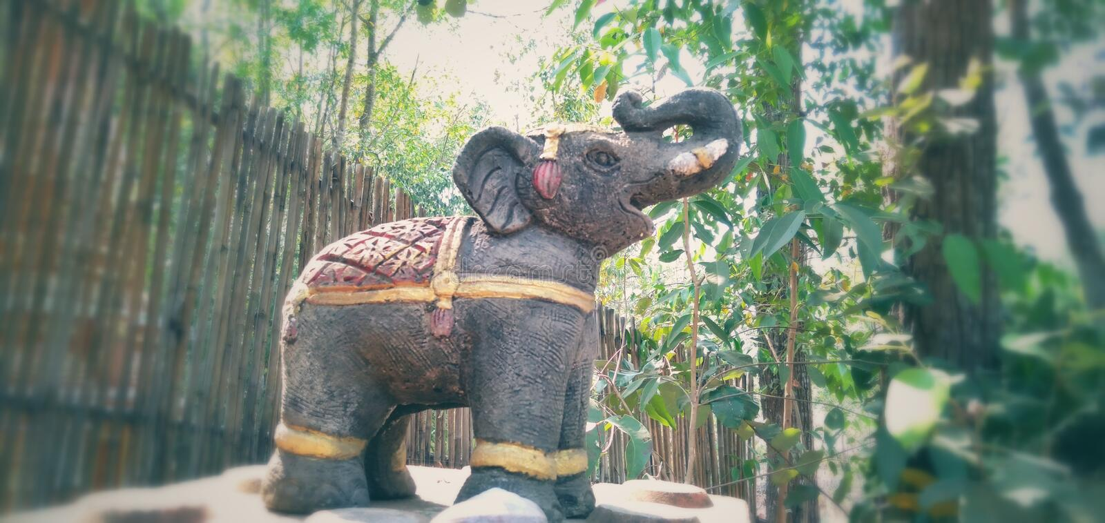 Small elephant statue stock images