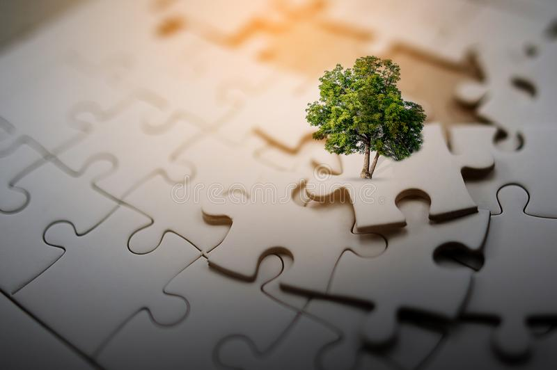 One small piece of jigsaw puzzles is always great when combined. If it is not working, then it is not royalty free stock images