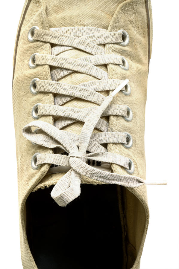 Download One Sneaker Isolated On White Background, Close-up Viewed From Above Stock Image - Image: 34264061