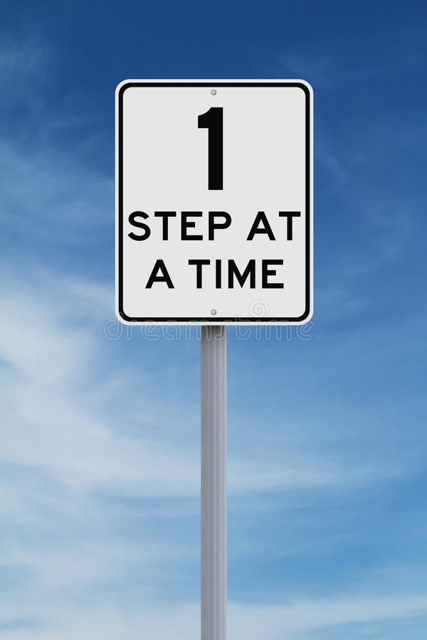 One Step at a Time royalty free stock images