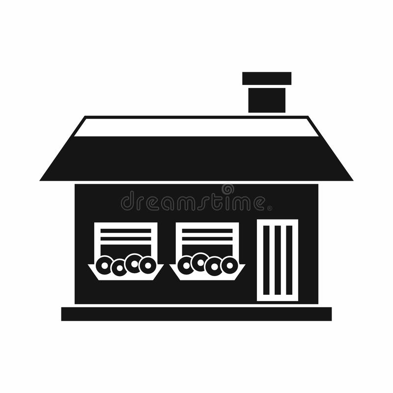 Download One Storey House With Two Windows Icon Stock Vector