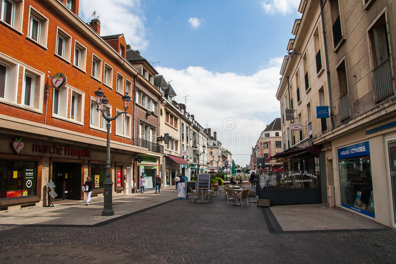 One of the streets of the city Beauvais royalty free stock images