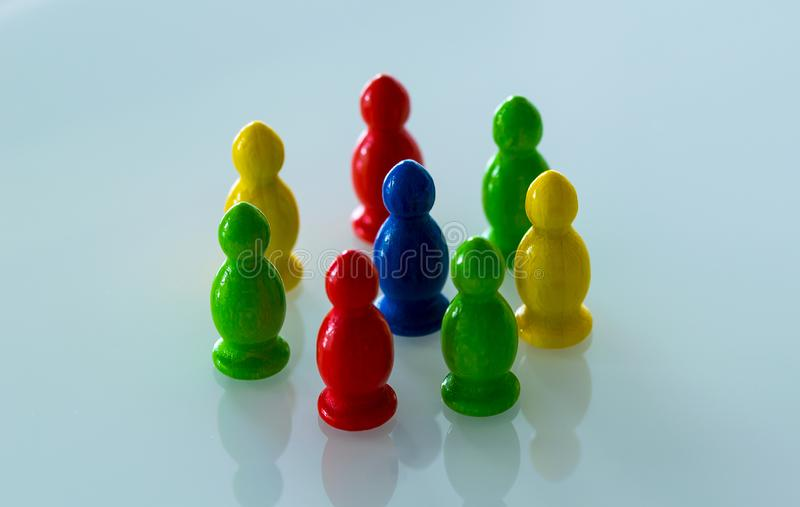 One is surrounded by a group royalty free stock photography