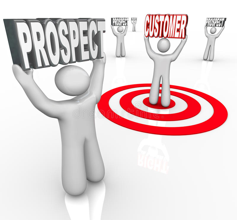 One Targeted Customer Many Prospects royalty free illustration