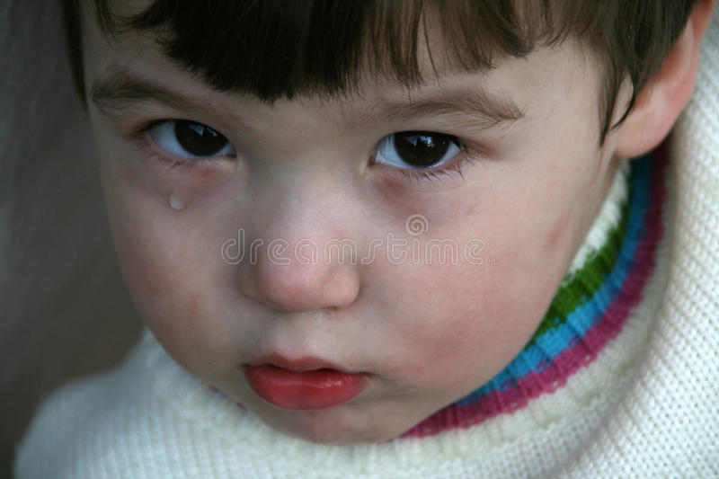 One tear royalty free stock images