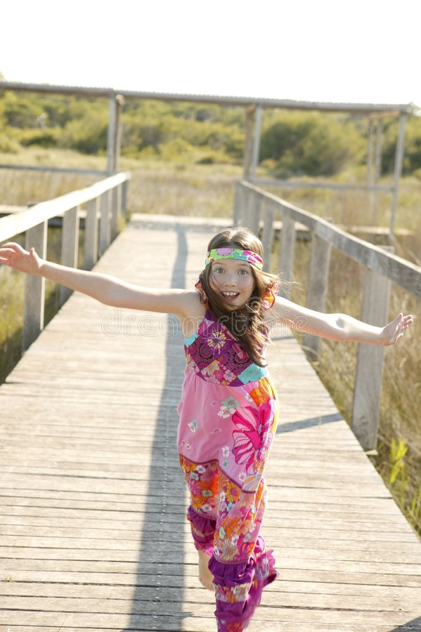 Download One Teen Girl Running Outdoor At The Park Stock Photo - Image: 8994150