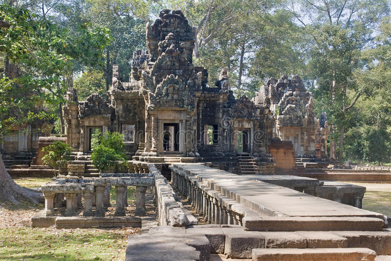 One of the temples in the area of ​​Angkor Wat royalty free stock image