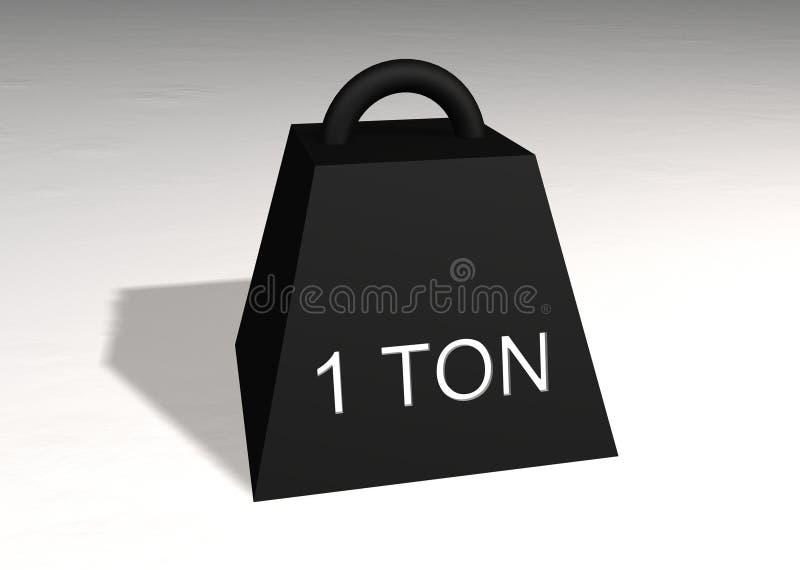 One ton stock photos