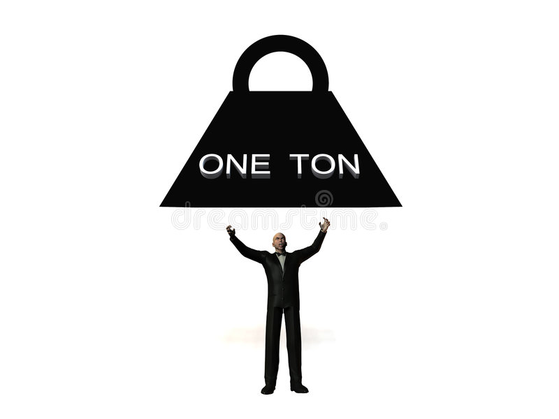 Download One Ton Crush 3 stock image. Image of business, corporate - 2308263
