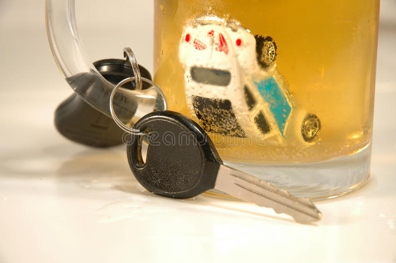 One too many beers!. Illustration of the effects of too many beers and driving royalty free stock photos