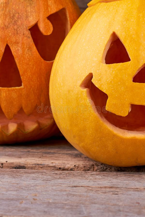 One tooth Jack O Lantern. stock image