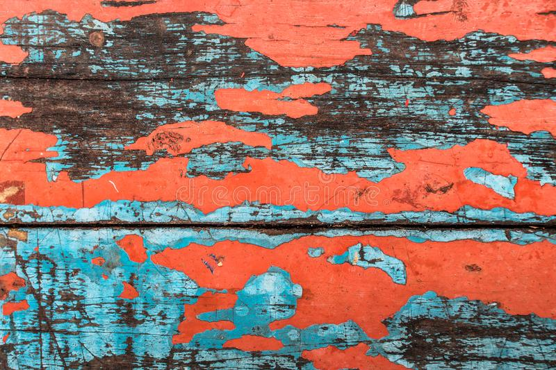 Grimy old table with red color royalty free stock image