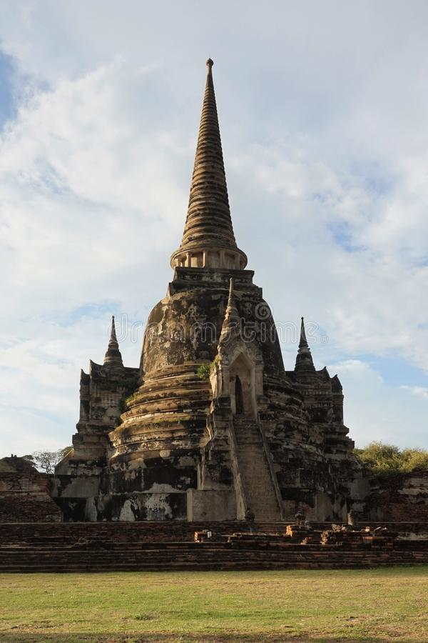 One of the Towers of Wat Phra Si Sanphet, Ayutthaya, Thailand royalty free stock image