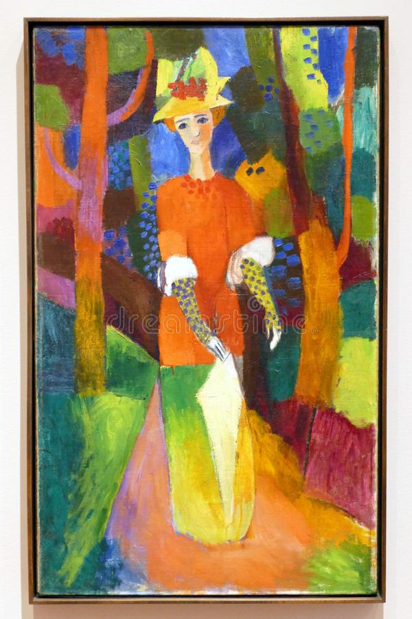 Photo Of The Original Painting By August Macke: `Lady In A