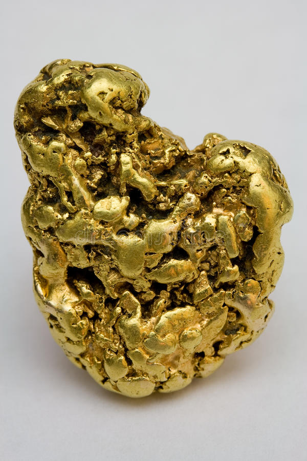 Free One Troy Ounce California Gold Nugget Royalty Free Stock Images - 40791479