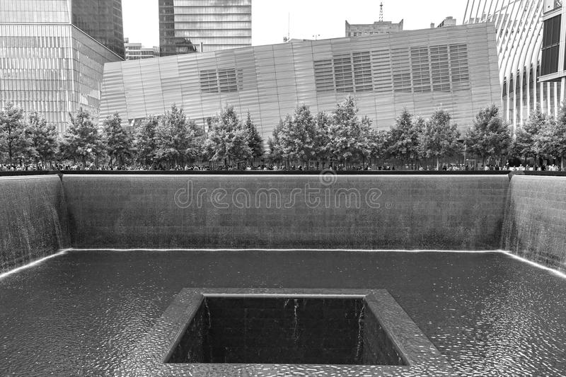 One of the two National September 11 Memorial pools. royalty free stock photo
