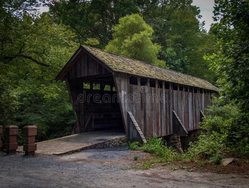 Historic Pisgah Covered Bridge stock photography