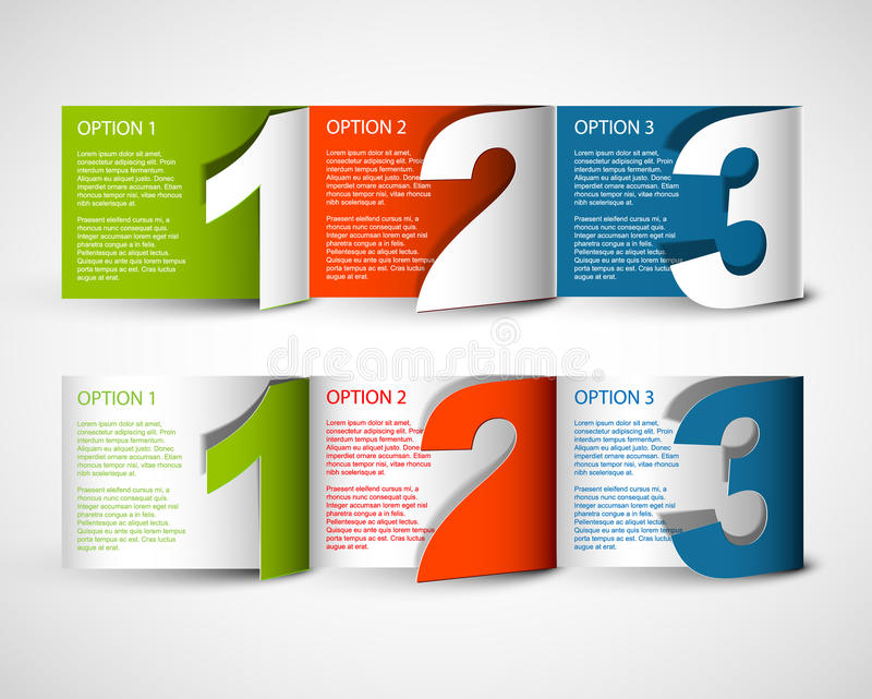 One two thre - vector progress background royalty free illustration