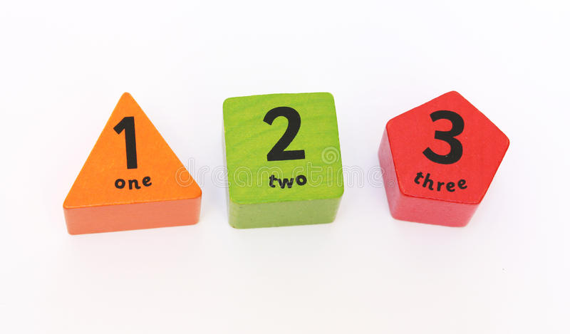 Download One two three stock image. Image of shapes, learning - 26339249
