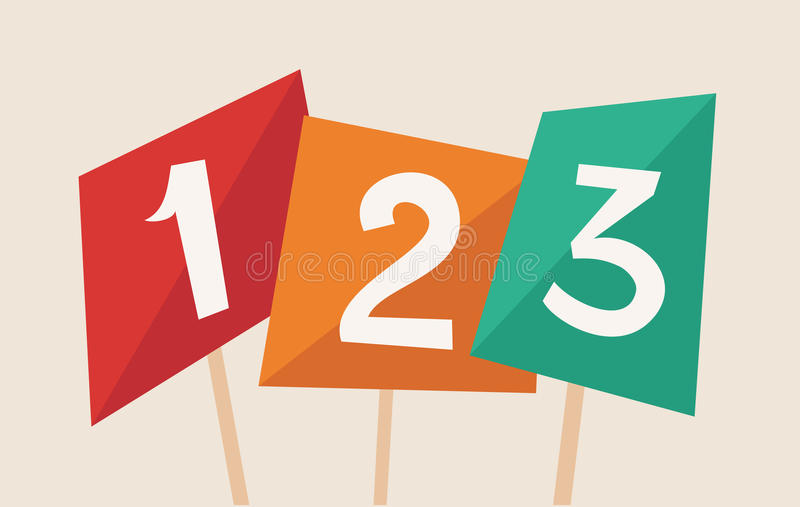 Download One two three stock vector. Illustration of order, illustration - 37885413