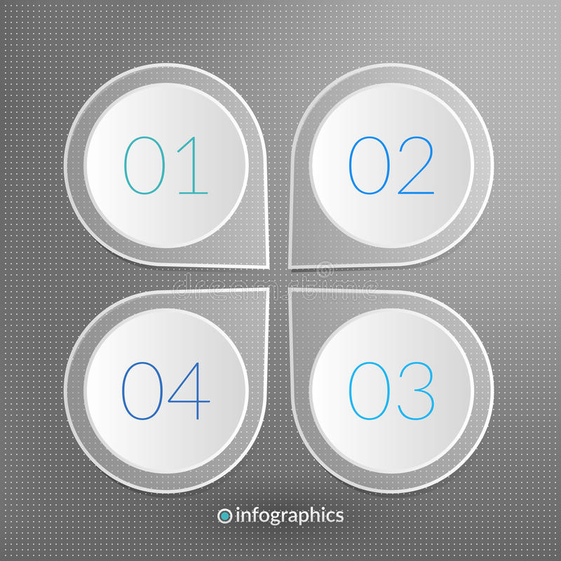 One two three four step vector infographics. 1 2 3 4 progress royalty free illustration