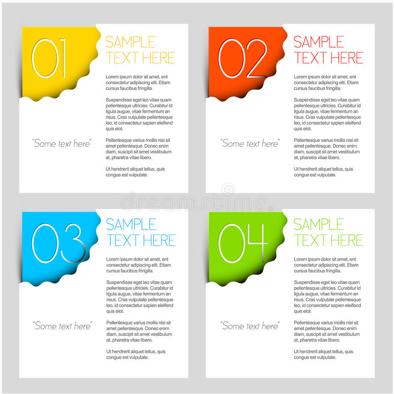 One two three four - vector progress background vector illustration