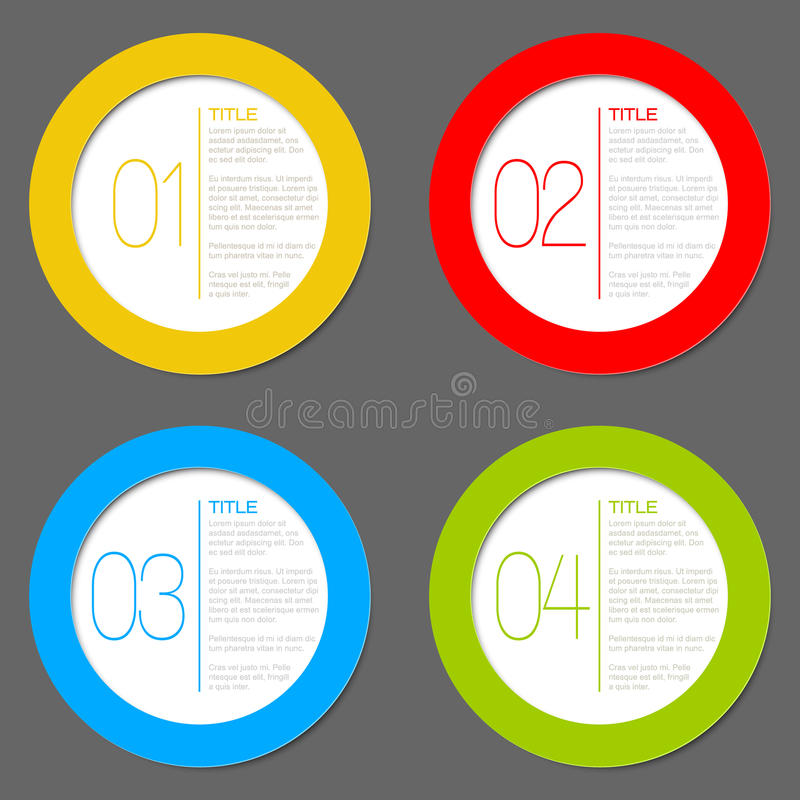 One two three four - vector progress icons stock illustration