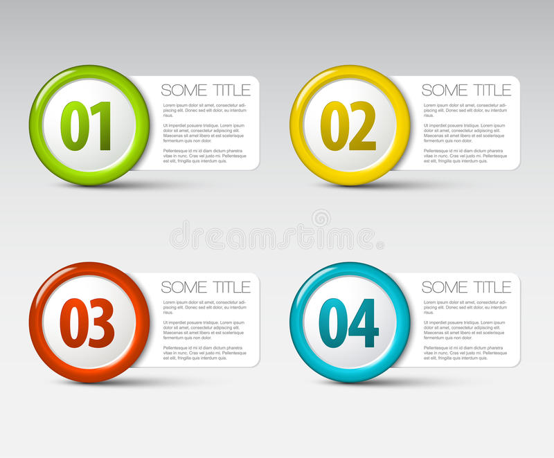 Download One Two Three Four - Vector Progress Icons Royalty Free Stock Photography - Image: 24877607