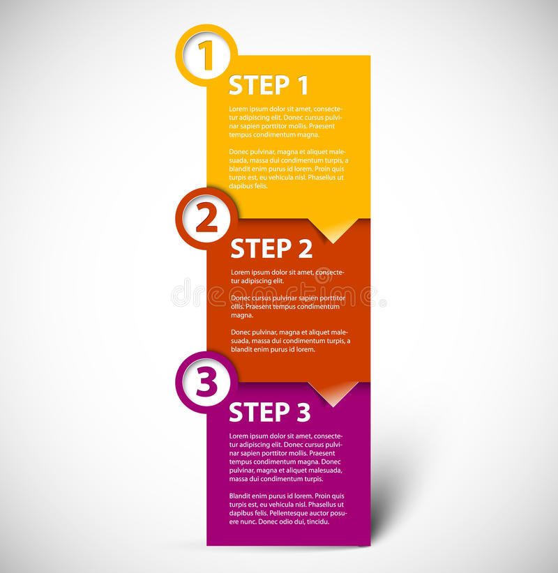 Download One Two Three - Vector Paper Steps Stock Vector - Image: 25926815
